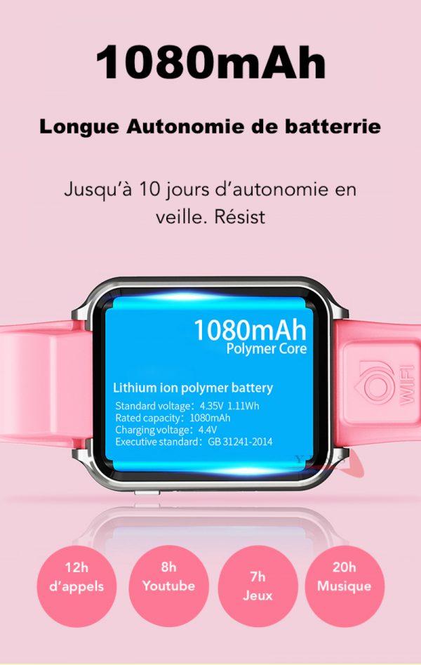 montre connectée ado pro performance batterie