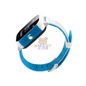 montre téléphone gps montre tétéphone gps blanc-bleue
