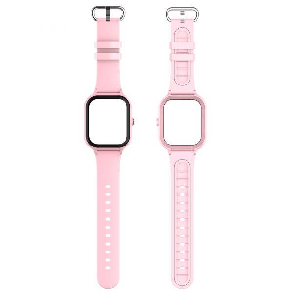 bracelet et boitier montre connectée enfant air rose 3