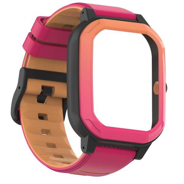 bracelet montre connectée enfant rainbow rose 7