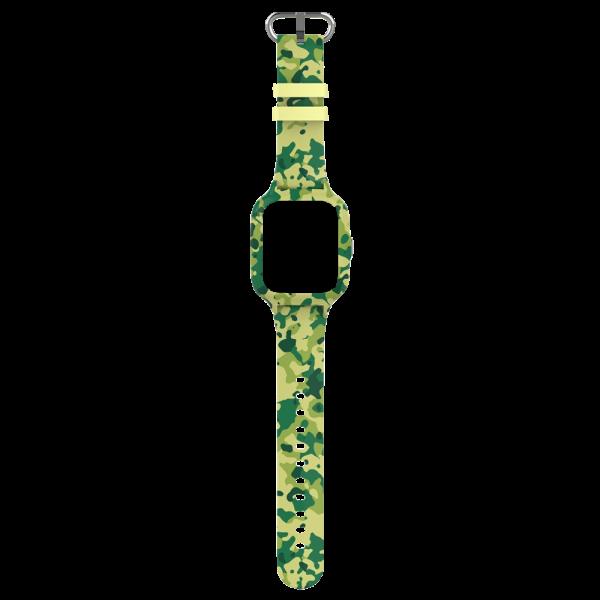 bracelet montre conectée enfant militaire vert